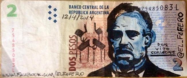 Papel-moeda muito artístico e irónico