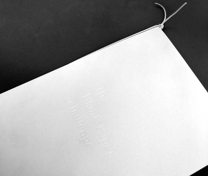Blank Paper Notebook, um caderno capaz de conter o infinito