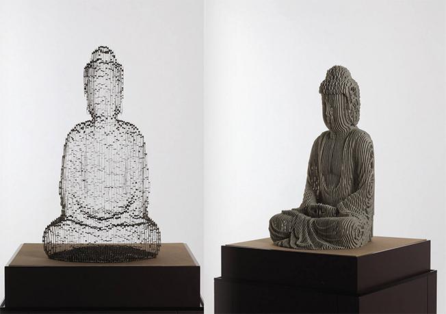 Esculturas em papel de qualidade que desaparecem