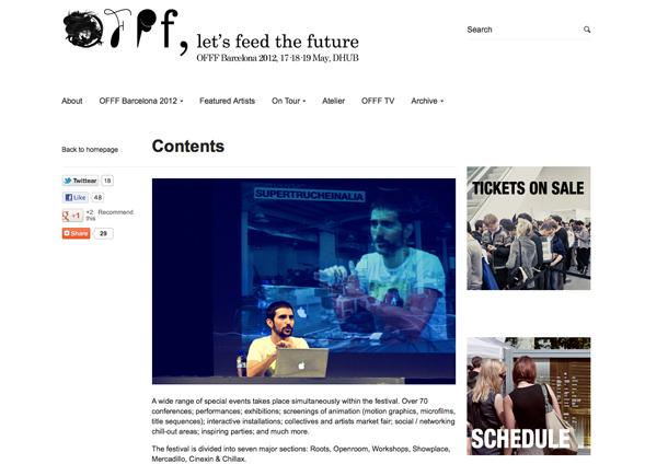 Fedrigoni parceiro oficial do OFFF 2012