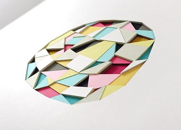Camadas poligonais de paixão pelo papel