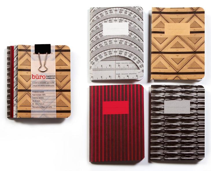 Cadernos a combinar com a exposição de Fabián Di Luciano, 'Büro'